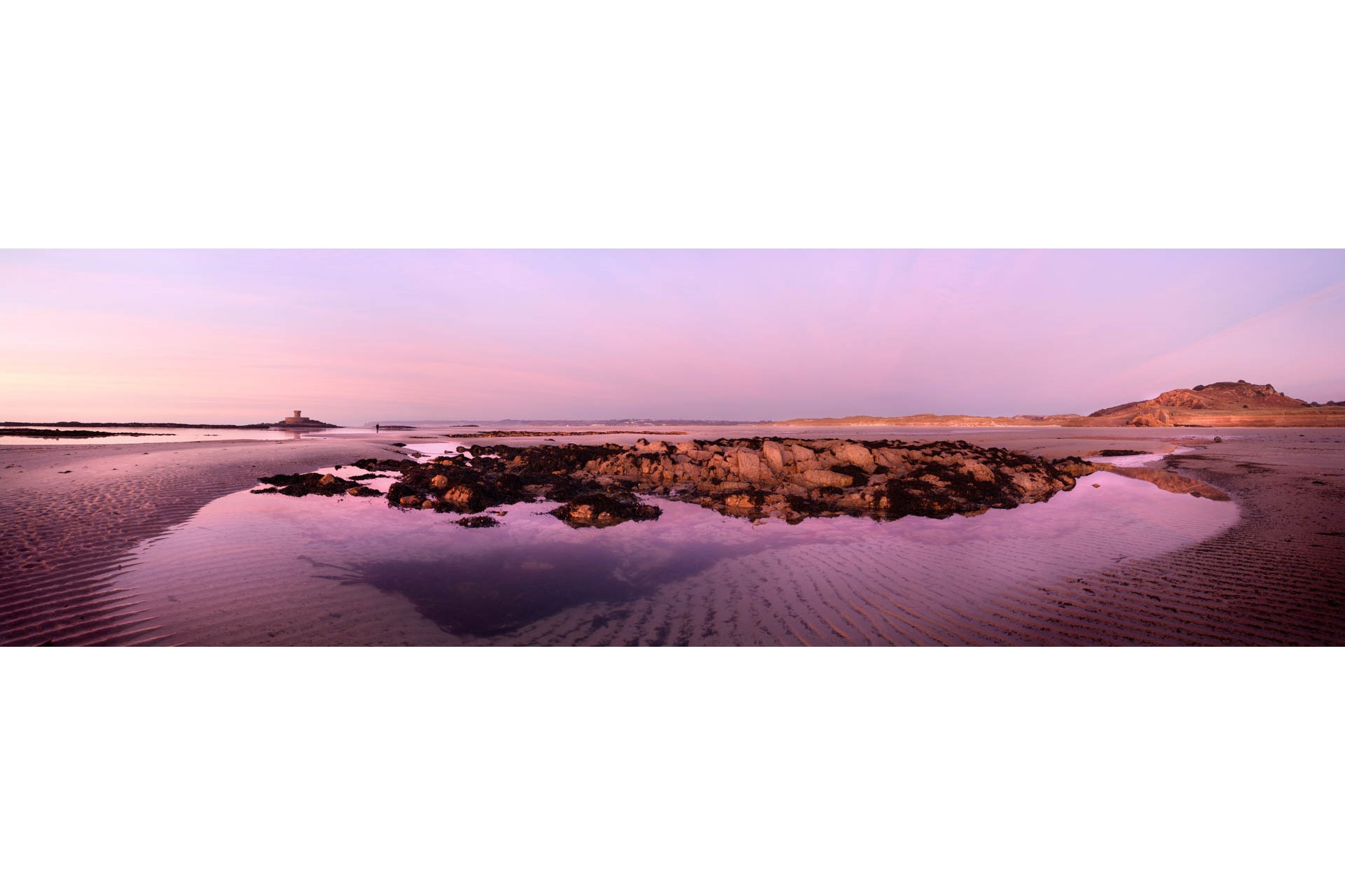 Pink Rock Pool, St Ouen's Bay