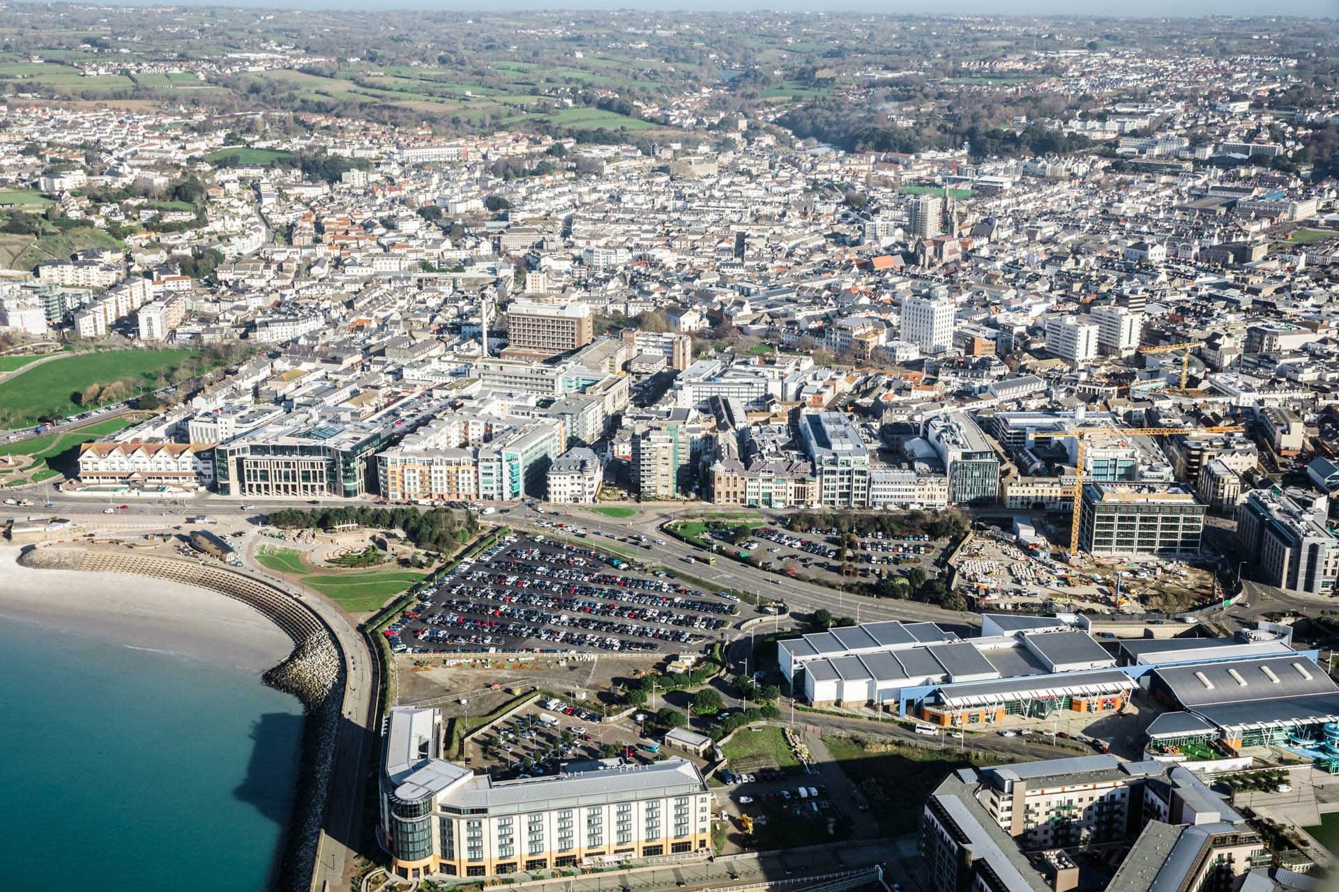Aerial View of St Helier