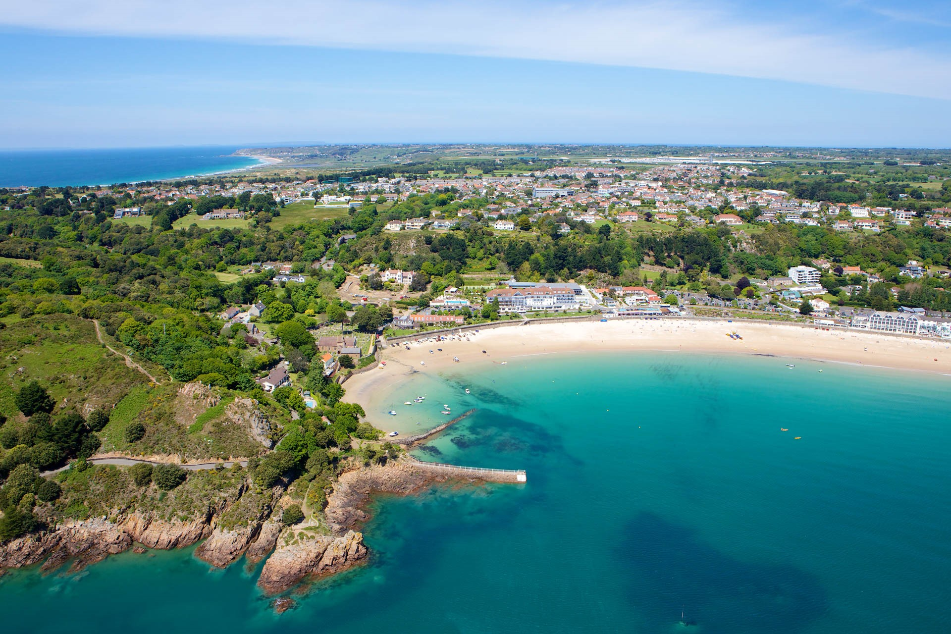 Aerial View of St Brelade's Bay
